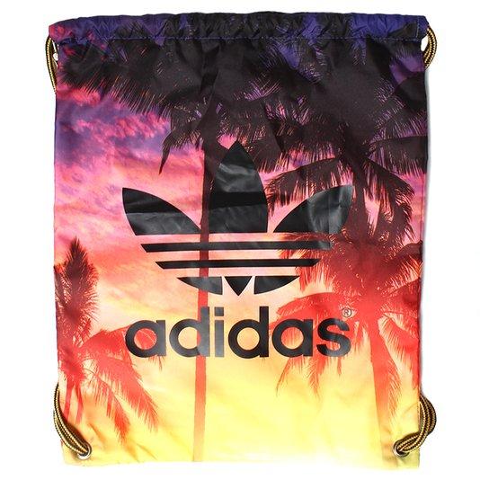 Bolsa Adidas Gymsack Palm Amarelo/Roxo