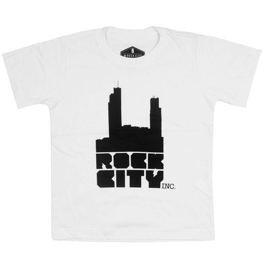 Camiseta Rock City Logo Infantil Branco