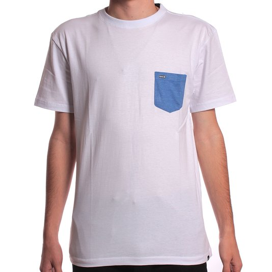 Camiseta Hurley Silk Juvenil Pocket Branco