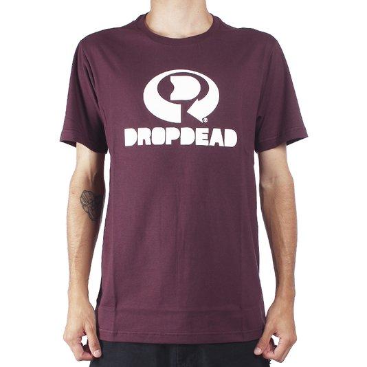 Camiseta Drop Dead Logo Vinho