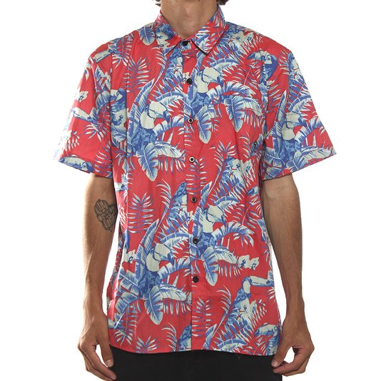 Camisa Lrg M/C Toucan Do It Coral/Azul