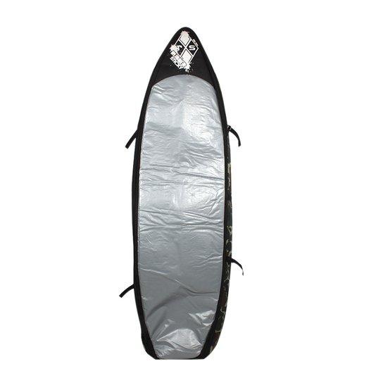 Capa Rubber Sticky Refletiva  Até 6 Pranchas  Prata