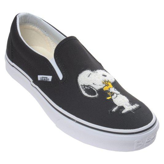 Tênis Vans Slip-On Peanuts Best Friend Preto