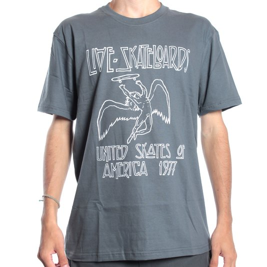 Camiseta Live United Skates Chumbo