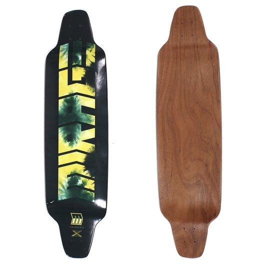 Shape Longboard Mirage Rebaixado Preto/Verde/Amarelo