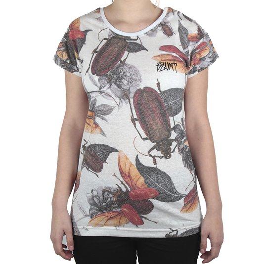 Camiseta Blunt Bugs Feminino Branco Mescla