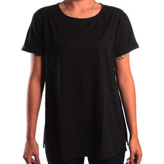 Camiseta Redley Malha Abertura Lateral Preto