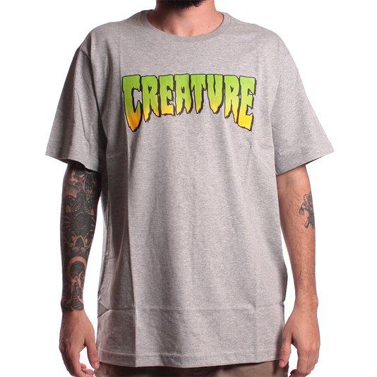 Camiseta Creature Logo Cinza Mescla