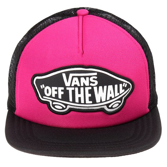 Boné Vans Beach Girl Trucker Hat Very Preto/Rosa