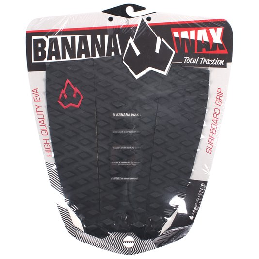 Deck Banana Wax T Traction Preto/Branco/Vermelho