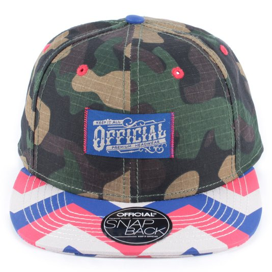 Bone Official Work Zag Camuflado/Creme