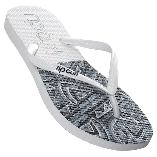 Chinelo Rip Curl Chicama Branco/Cinza