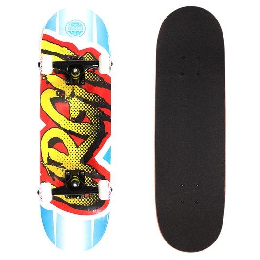 Skate Urgh Montado Comics Azul/Vermelho/Amarelo