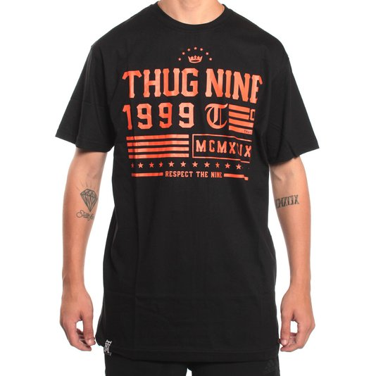 Camiseta Thug Nine Respect The 9 Preto