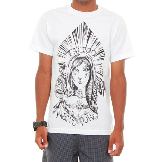 Camiseta Rock City Driin Viida Branco