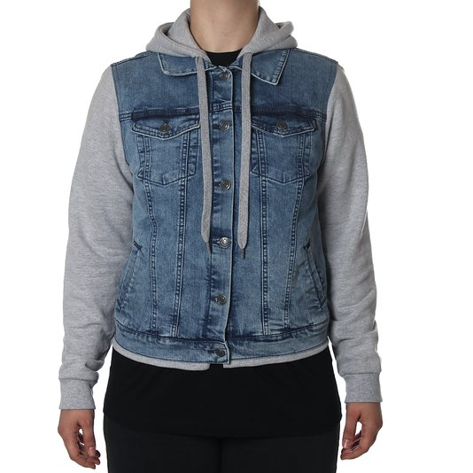 Jaqueta Qix Jeans Missy Azul