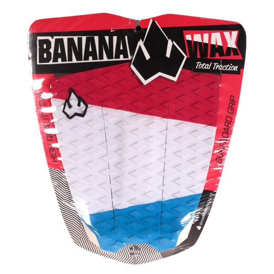 Deck Banana Wax Traction 3 Piece Vermelho/Branco/Azul