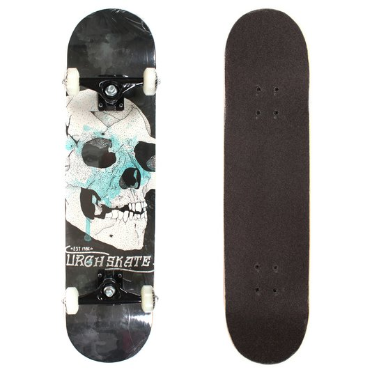 Skate Urgh Montado Special Skull Preto