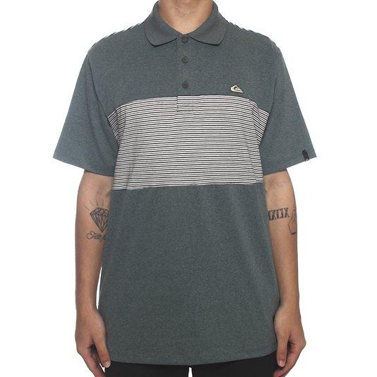 Camisa Polo Quiksilver Oswald Verde Mescla