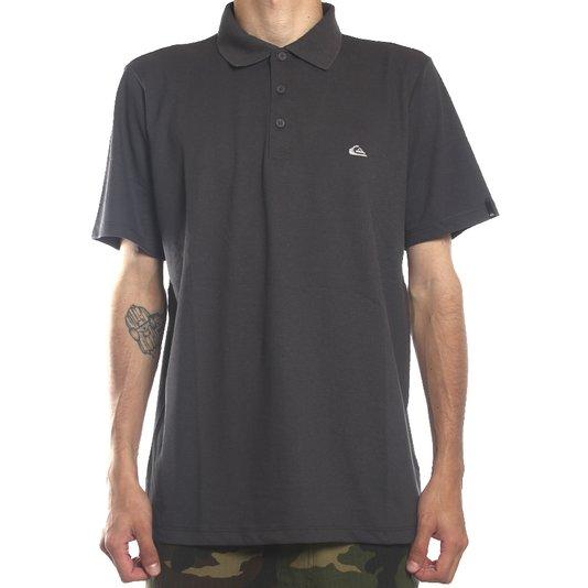 Camisa Polo Quiksilver Fishman Chumbo