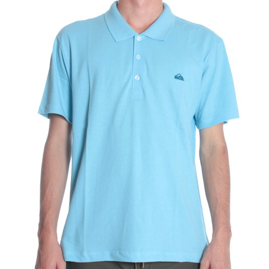 Camisa Polo Quiksilver Manga Curta Belle Azul Claro
