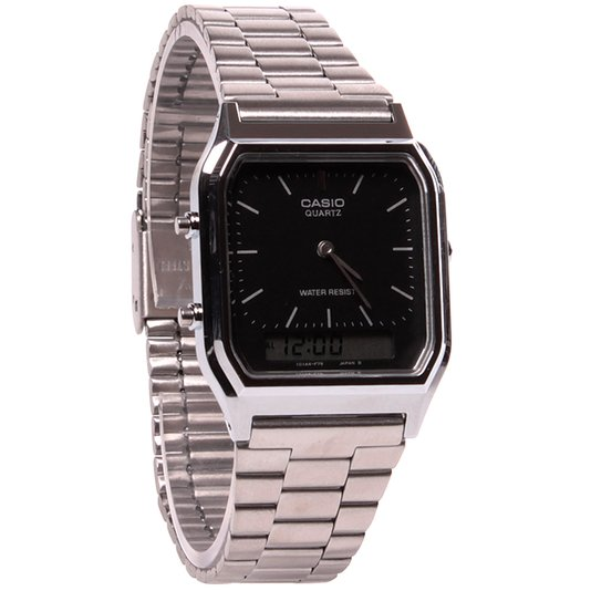 Relógio Casio Vintage AQ-230A-1DMQ Prata