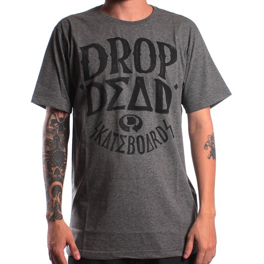 Camiseta Drop Dead Shapie Pen Chumbo Mescla