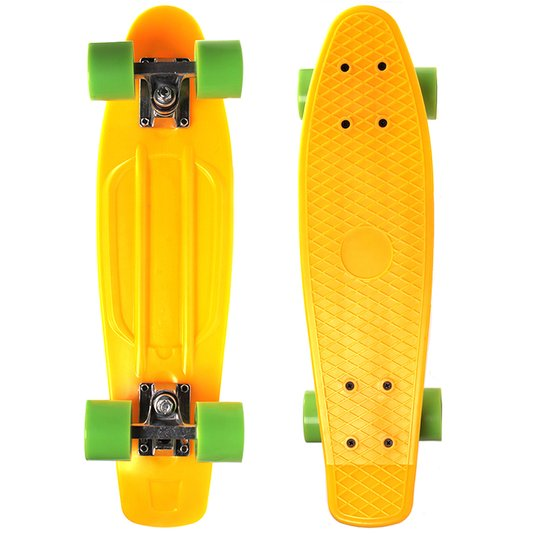 Skate W7 Bantan Amarelo/Verde
