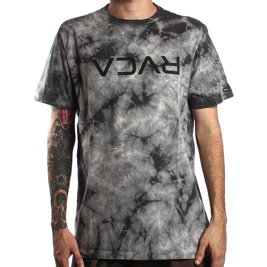 Camiseta Rvca Big Dyed  Cinza Tie Dye