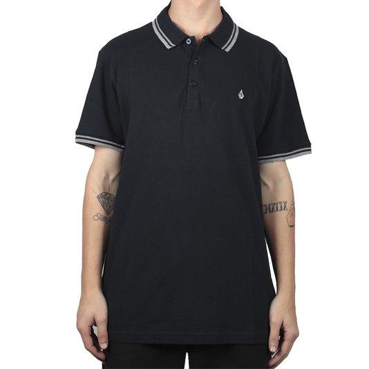 Camisa Polo Volcom Onetone Azul Marinho
