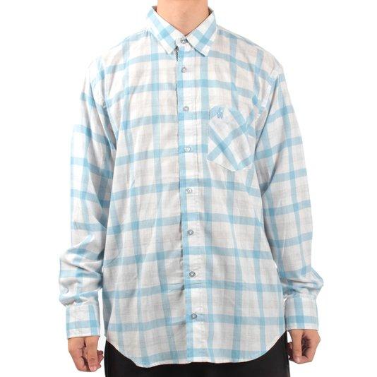 Camisa Rock City Xadrez Branco/Azul