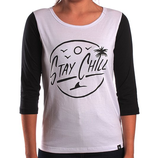 Camiseta Grow 3/4 Stay Chill Branco