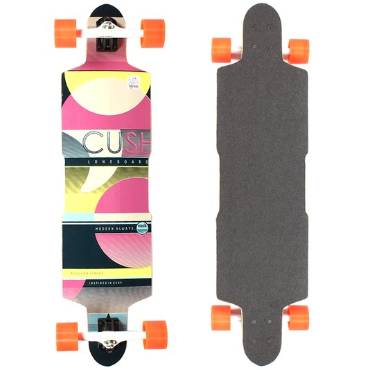 Longboard W7 Cush Speed Invert Amarelo/Rosa
