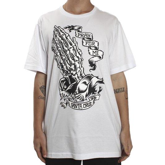 Camiseta Santa Cruz Pfm Skeleton Branco