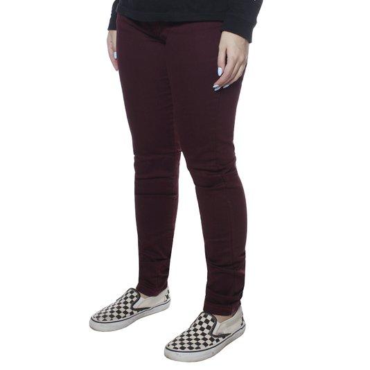 Calça Hurley Skinny Twill Legging Bordô