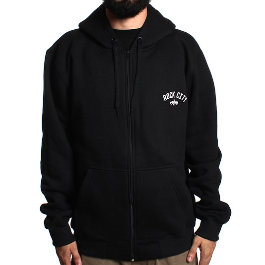 Moletom Rock City Army Zipper Preto