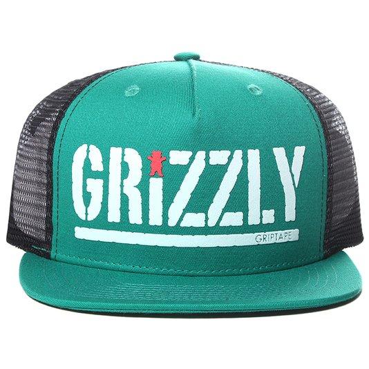 Boné Grizzly Colored Bear Stamp Verde/Preto