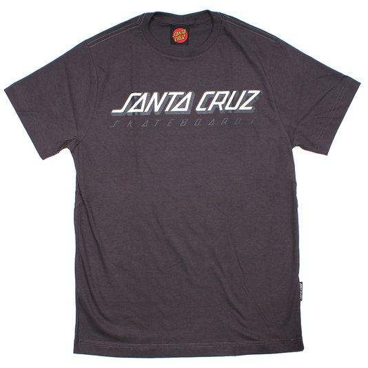 Camiseta Santa Cruz Classic Stripe Infantil Chumbo