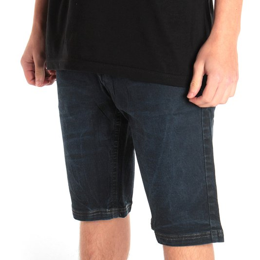 Bermuda Globe Walk Jeans Slim Azul
