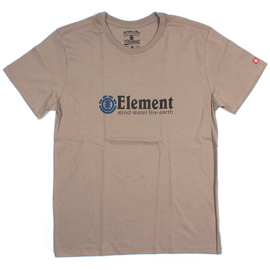 Camiseta Element Horizontal Infantil Bege Escuro