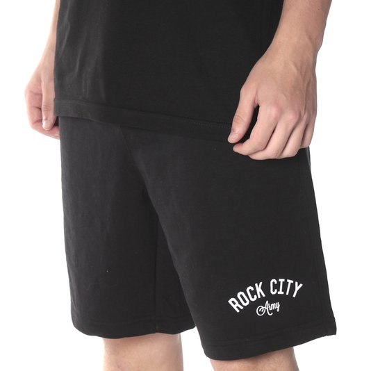 Bermuda Rock City Moletom Army Preto