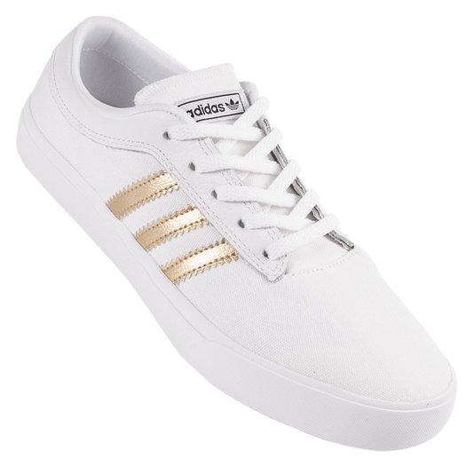 Tenis Adidas Sellwood Branco/Dourado