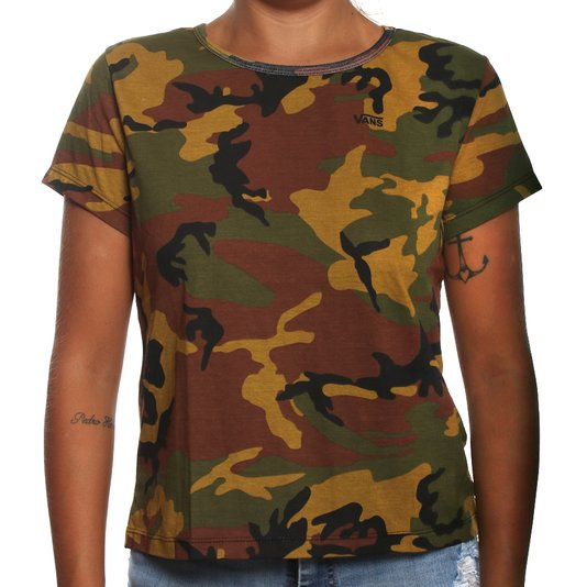 Camiseta Vans Camo Baby Camuflado