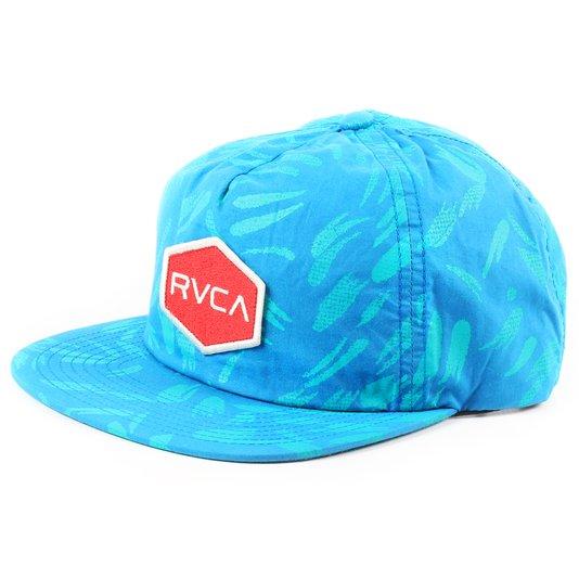 Bone Rvca Reservation Azul/Vermelho
