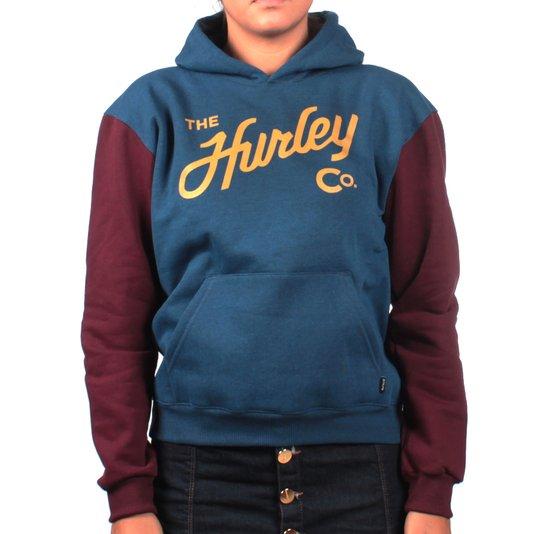 Moletom Hurley Canguru Azul