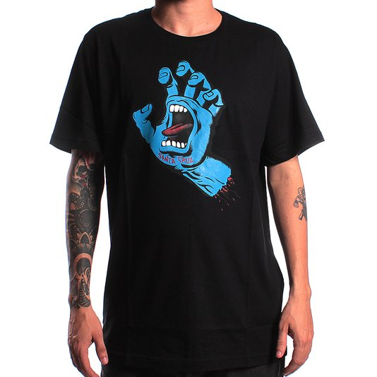 Camiseta Santa Cruz Screaming Hand Preto