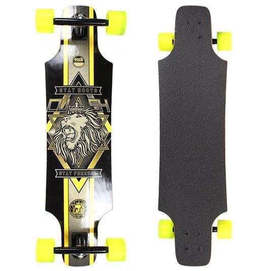 Longboard W7 Cush Invertido Speed Preto/Amarelo