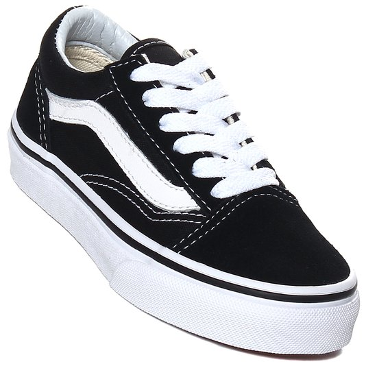 48f8c5d911 Tênis Vans Old Skool Juvenil Preto Branco - Rock City
