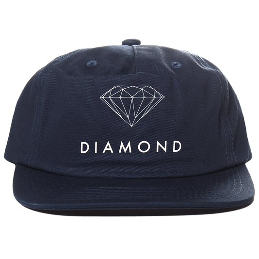 Boné Diamond Futura Sign Unstructured Azul Marinho