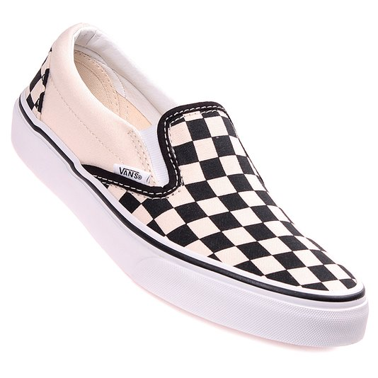 Tênis Vans Slip-On Checkerboard Branco/Preto